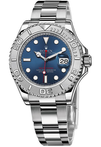 Pre Owned Rolex Watches Men S Rolex Yacht Master Ii Stainless Steel Blue Sunray Dial Watch