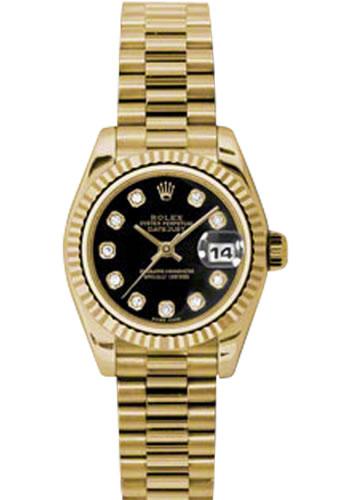 Rolex Datejust Gold Black Face