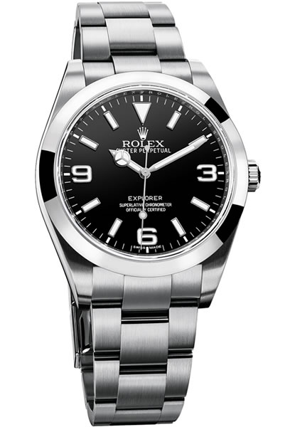 Rolex 214270 Oyster Perpetual Explorer 39mm Stainless Steel Watch
