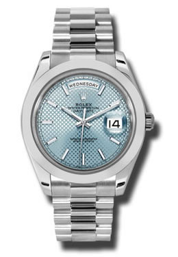 Platinum Rolex 228206 Ibdmip Oyster Perpetual Day-Date 40mm Watch