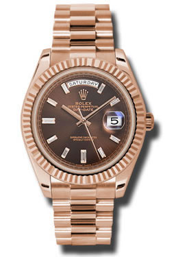 18K Everose Gold Rolex 228235 Chbdp Oyster Perpetual Day-Date 40mm Watch