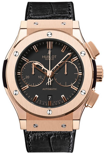 Men's Hublot lassic Fusion 45mm Chronograph King Gold Watch 521.OX.1180.LR