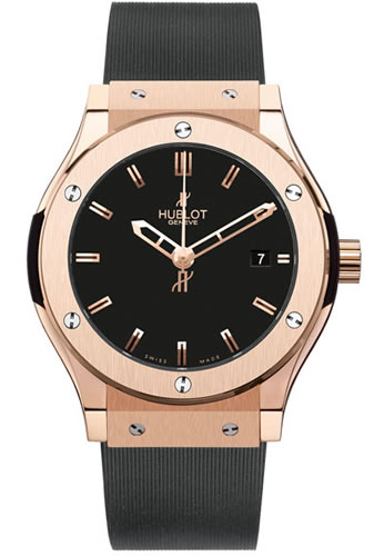 Men's Hublot Classic Fusion 38mm 18K Red Gold Black Dial Watch 561.PX.1180.RX