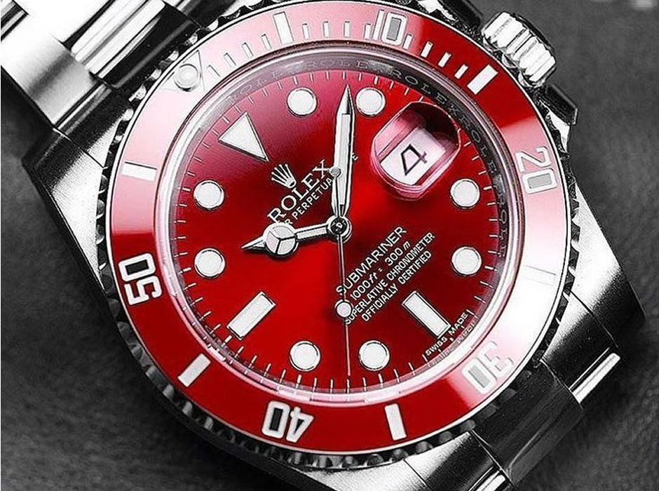 Best Watches by Rolex with Red Dials